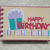 4x6 Birthday Girl Mini Scrapbook Photo Album