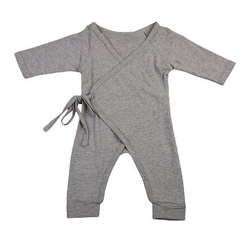 Newborn Kids Baby Boy Girls Infant Clothing Romper Jumpsuit Long Sleeve Cotton Casual Clothes Outfits Baby Boys