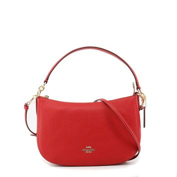 Coach- Red Leather Should Bag