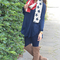 Piko Boo Tunic: Dark Navy Blue