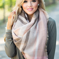 Keep Me Warm Blanket Scarf Gray