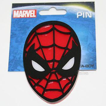 "Licensed cool NEW Marvel The Amazing SPIDER-MAN 2 SPIDERMAN Pinback Pin 3 1/2"" H x 2 5/16"" W"