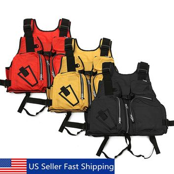 Outdoor Fishing Vest Nylon Life Jacket Breathable Sport Fishing Men Vest Daiwa Clothing Safety Waistcoat Survival Utility Vests