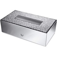 Starlight Rectangular Tissue Box Cover W Swarovski Crystals