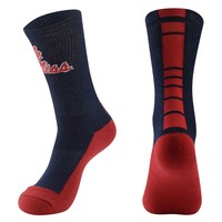 Mojo Ole Miss Rebels Champ 1/2-Cushion Performance Crew Socks - Women, Size: 9-11 (Blue)
