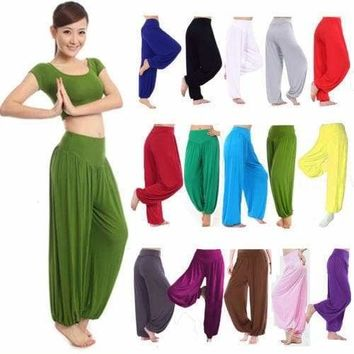 Women's Harem Genie Aladdin Pants Causal Baggy Gypsy Loose Sports Yoga Trousers