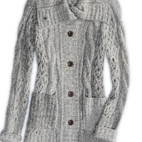 AEO Women's Chunky Knit Sweater Coat