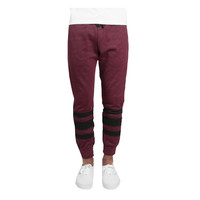 DOPE Heavyweight Knit Sweatpants In Burgandy