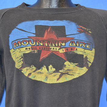 80s Mountain Aire Music Festival 1986 Sweatshirt Medium
