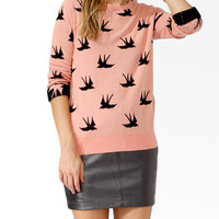 Soaring Bird Print Sweater