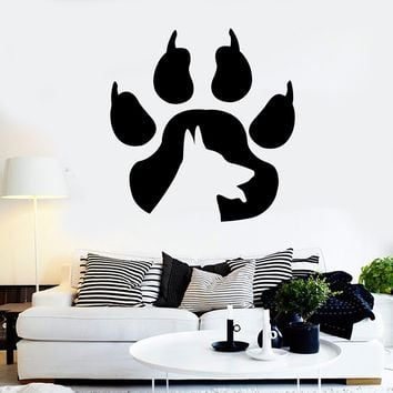 Vinyl Wall Decal Paw Prints Dog Animal Pet Shop Stickers Unique Gift (ig3919)