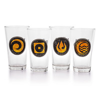 The Legend of Korra Element Pint Glass Set