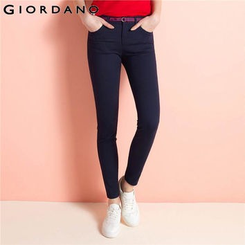 Women Pants Trouser Solid Khakis Pants Casual Pants Tapered Leg Trousers With Belt