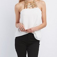 CHAIN NECK TANK TOP