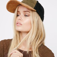 Free People Ace Patchwork Suede Baseball Hat