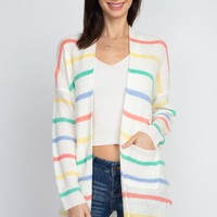 She Will Be Loved Cardigan - Coral
