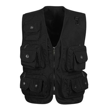Mens Vest Sleeveless Jacket Style Casual Vest Military Tactical Clothes Father Director Photography Fisherman Brand Pocket Vest