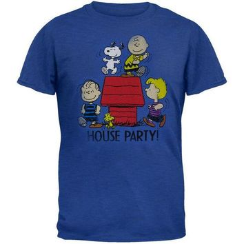 PEAPGQ9 Peanuts - House Party Adult T-Shirt