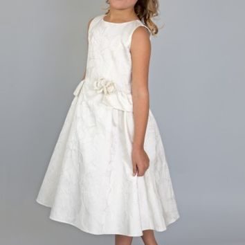 Us Angels Peplum Brocade Dress (Toddler Girls, Little Girls & Big Girls) | Nordstrom