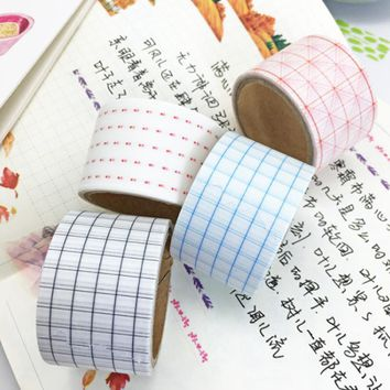 1 Pcs/set 30mmx5m Creative Simple Square Grid Note Daily Agenda Planning Washi Tape Masking Tape 19 Design