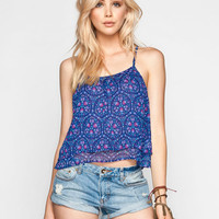 Patrons Of Peace Womens Double Layer Cami Navy  In Sizes