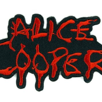"Alice Cooper Shock Rock Patch Iron on Applique Heavy Metal Clothing ""School's Out"""