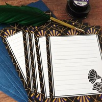 Art Deco nouveau stationery letter set
