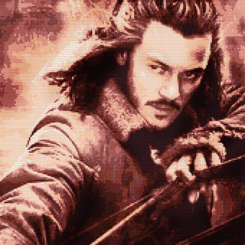 Bard the Bowman Cross Stitch Pattern (Large)