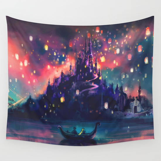 The Lights Wall Tapestry By Alice X From Society6 Wall Art