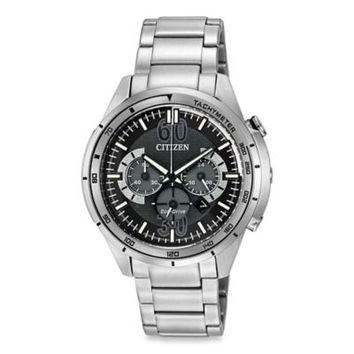 Citizen Drive from Eco-Drive Men's 46mm HTM Chronograph Watch in Stainless Steel