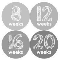 Pregnancy Baby Bump Week Stickers Style #909