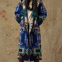 Native Jacket, Reversible Long Coat, North Star Pendleton® Wool Coat