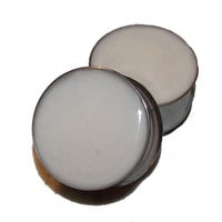 White Pearl Glitter Plugs - 1 Pair - Sizes 0g to 2""