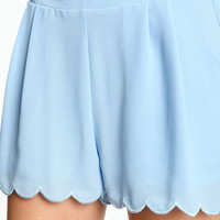 SCALLOP HIGH WAISTED SHORTS