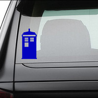 "Doctor Who Tardis Vinyl Decal Sticker 5.0"" x 2.5"""