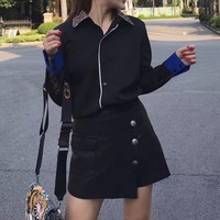 """Louis Vutitton"" Women Fashion Casual Logo Letter Print Multicolor Long Sleeve Lapel Shirt Cardigan Tops"
