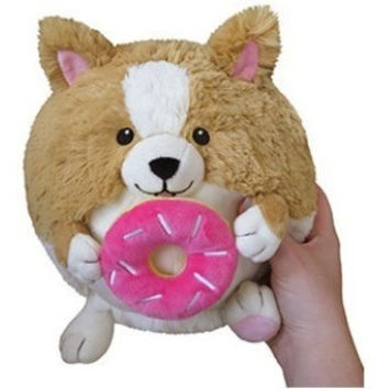 Squishable Mini Corgi Holding a Donut 7""