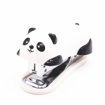 1pcs panda cartoon Mini  stapler  office school supplies stationery paper  Clip Binding Binder