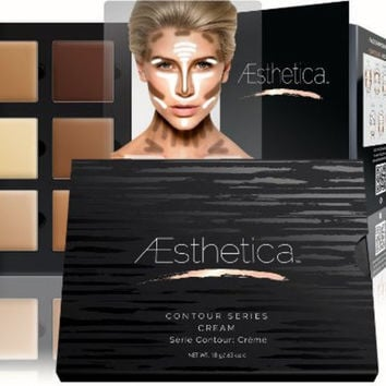 Aesthetica Cosmetics Cream Contour and Highlighting Makeup Kit - Contouring Foundation / Concealer Palette