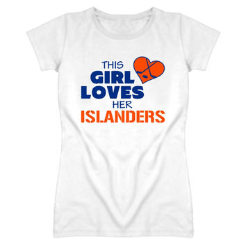 Youth This Girl Loves Her Islanders Hockey T-Shirt
