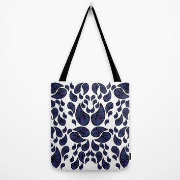 Paisley purple and teal Tote Bag by VanessaGF | Society6