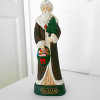 Santa Ceramic Figurine Austria 1904 Reproduction