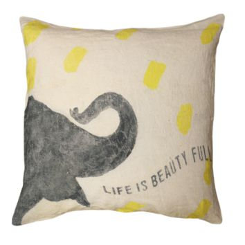 Smart Elephant Pillow by Sugarboo