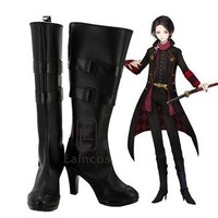 Touken Ranbu Online Kashuu Kiyomitsu Black Boots Cosplay Party Shoes Custom Made