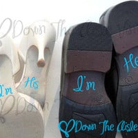 Something Blue I'm His & I'm Hers Shoe Decals by DownTheAisleVinyl