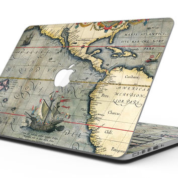The Vintage Coast Map - MacBook Pro with Retina Display Full-Coverage Skin Kit