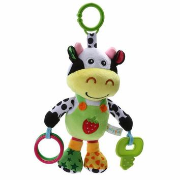 ICIK272 13' Infant Rattles  Baby Music Hanging Bell Toy Doll Soft Bed Plush Toy Educational 13' Infant Rattles Plush Animal Stroller