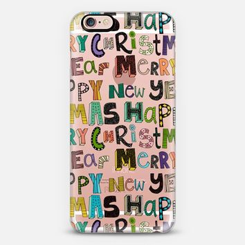 merry christmas happy new year transparent iPhone 6s case by Sharon Turner | Casetify