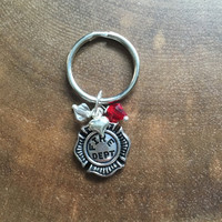 Fire Department Key Chain, Fire Fighter Gift, Fire Fighter Key Chain, Fathers Day Fire Fighter Gift