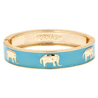 Enamel Elephant Bangle